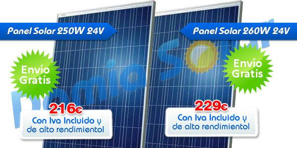 Placas Ecosolar de 250W y 260W. Alto rendimiento y al mejor precio que nunca!