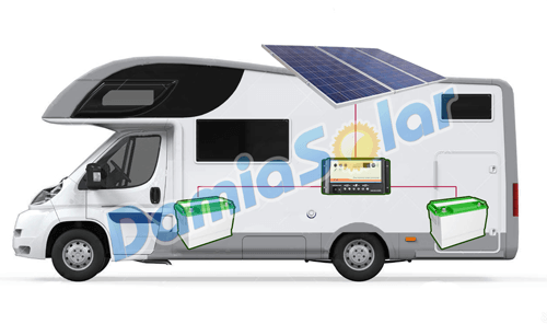 Kit solar completo para caravanas 200w con regulador for Baterias de placas solares