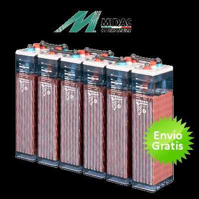 Bater a estacionaria midac opzs 568ah c100 350ah c10 for Baterias de placas solares
