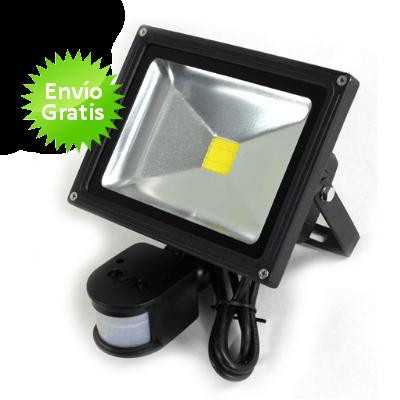 Foco led de 20w con sensor movimiento y luz - Luz sensor movimiento ...