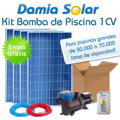 Kit solar bomba de piscina bomba 1 cv for Kit de piscina