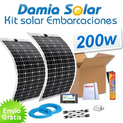 Kit Solar Para Embarcaciones Y Barcos 200w Con Placas