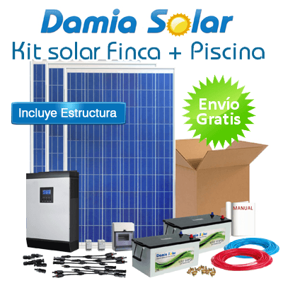 Kit solar para finca y bomba de piscina - Bomba piscina solar ...