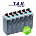 Bateria solar estacionaria TAB OPzS 2280Ah (C100)  1613Ah (C10)