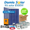 Kit solar 2500W ECO: TV, frigorífico, máquina de lavar.. PURA e CARREGADOR