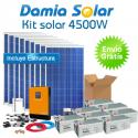 Kit solar 4500W ECO Uso Diario: Nevera congelador, TV, lavavajillas, DVD, etc