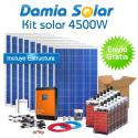 Kit solar 4500W Uso Diário: Frigo congelador, TV microondas, máquina lavar..