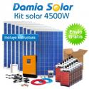 Kit solar 4500W Uso Diario: Nevera congelador, TV, microondas, lavadora, etc...
