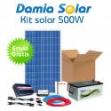 Kit solar 500W: Luz y TV. Con inversor ONDA MODIFICADA