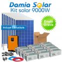 Kit solar 9000W ECO Uso Diario: Placa inducción, Nevera-Congelador, lavadora...