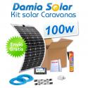 Kit solar para caravanas 100w con placa flexible