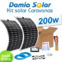 Kit solar para caravanas 200w con placas flexibles