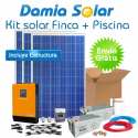 Kit solar para finca y bomba de piscina