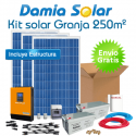 Kit solar para granja de 250 m2:  luz y herramientas