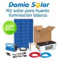Kit solar iluminación básica huerto