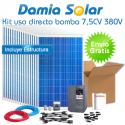 kit solar para uso directo de bomba de agua 7,5CV 380V trifásica