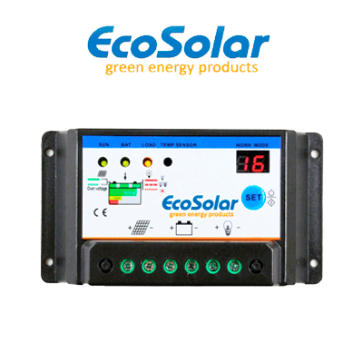 Regulador Ecosolar 20A 12/24V