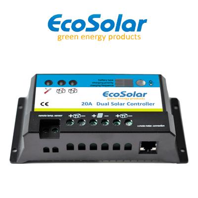 Regulador Ecosolar 20A DUAL...