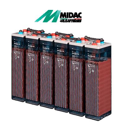 Batería Midac OPzS 374Ah...