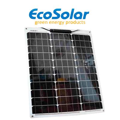 Placa solar flexível...
