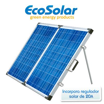 Placa solar plegable...