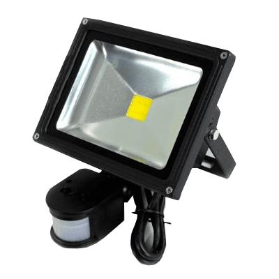Foco Led De 20w Con Sensor De Movimiento Y De Luz