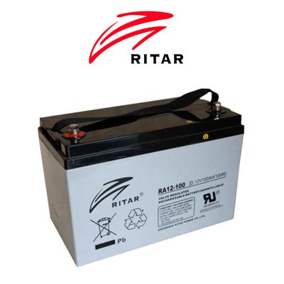 Bateria Solar Ritar Agm 125ah C100 (100ah C10)