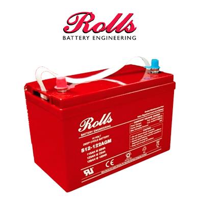 Bateria Rolls Agm 130ah C100 12v
