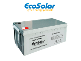 Bateria De Gel Ecosolar 250ah C100 12v