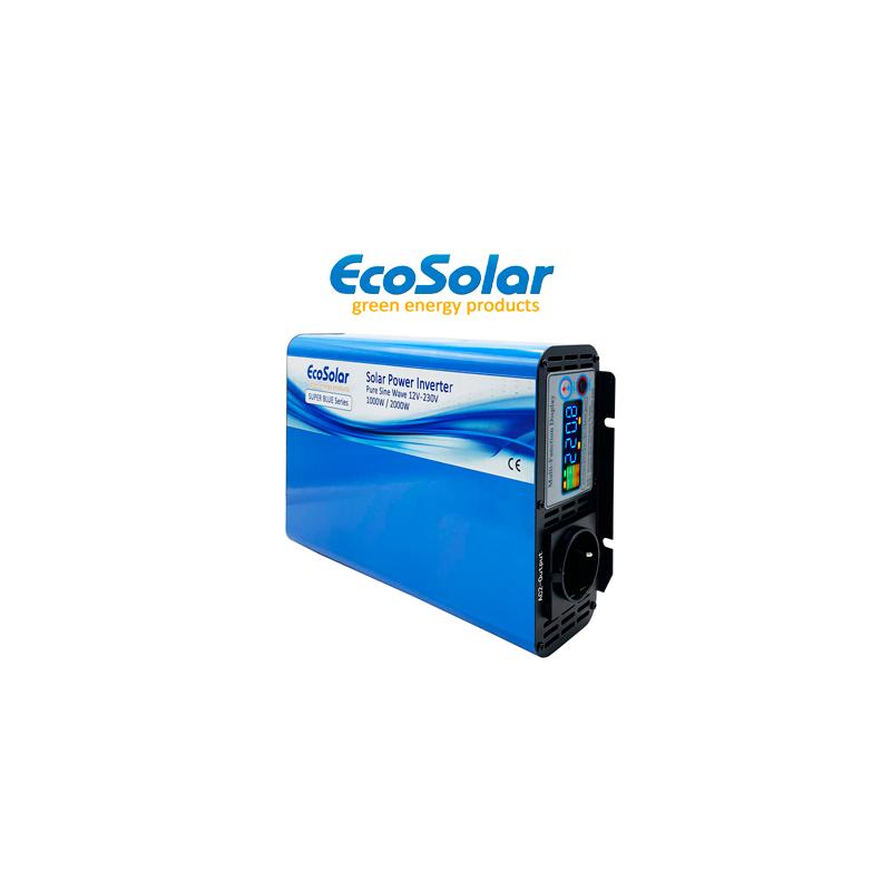 Inversor de onda pura Ecosolar Super Blue 1000W 12V