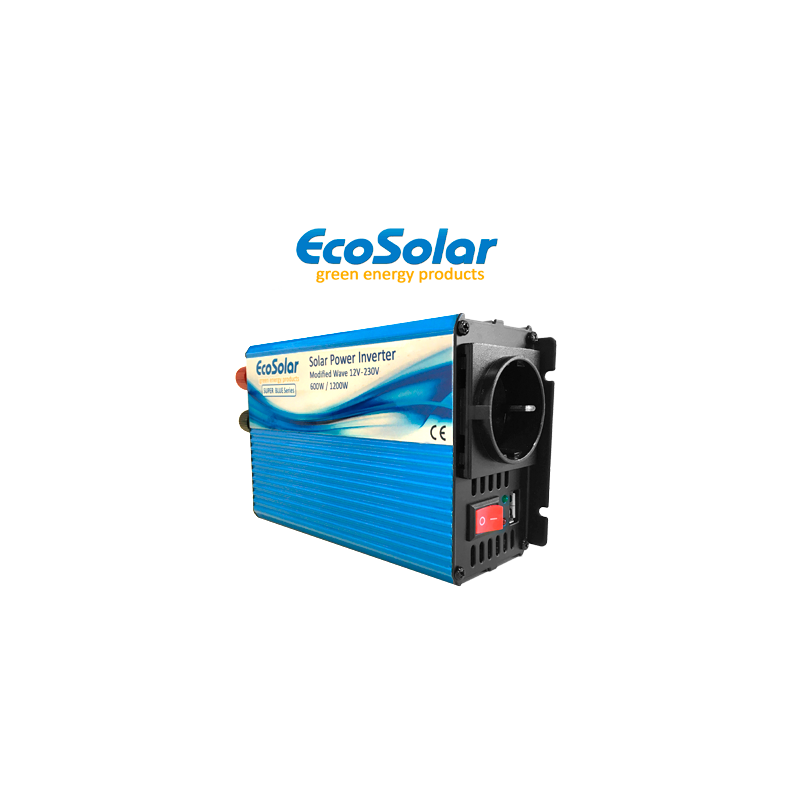 Inversor de onda modificada Ecosolar Super Blue 600W 12V