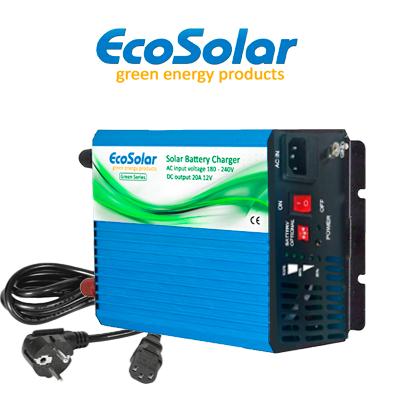 Cargador de baterías Ecosolar Super Green 20A (12V)