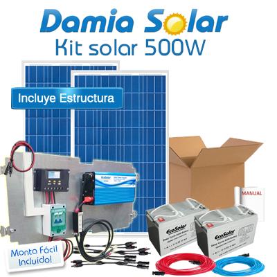 Kit Solar 500w Uso Diario: Nevera De Bajo Encimera Sin Congelador. Onda Pura.