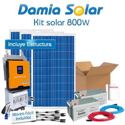 Kit solar 800W Uso Diario:...