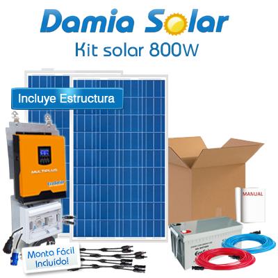 Kit Solar 800W Fins de...