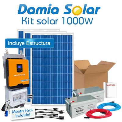Kit Solar 1000W Fines de...