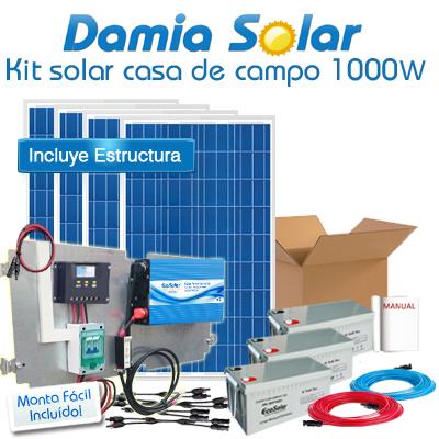 Kit solar casa de campo...