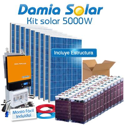 Kit solar 5000W Uso Diario:...