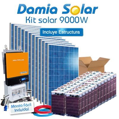 Kit solar 9000W Uso Diario:...