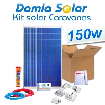 Kit solar autocaravanas 150W
