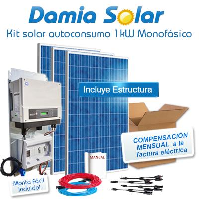 Kit autoconsumo solar 1kW...