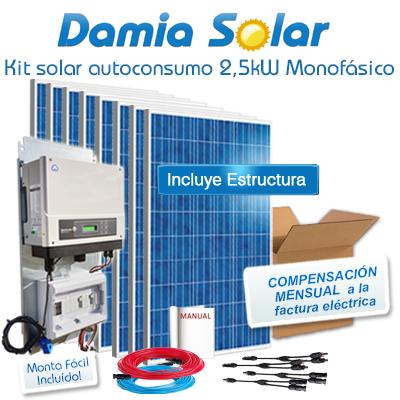 Kit autoconsumo solar 2,5kW...