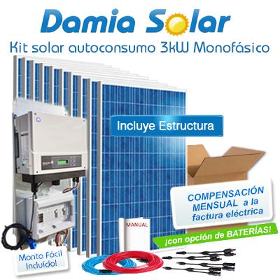 Kit autoconsumo solar 3kW...