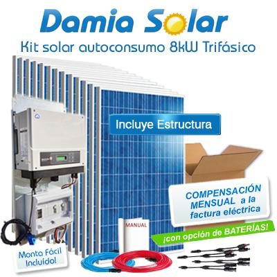 Kit autoconsumo solar 8kW...