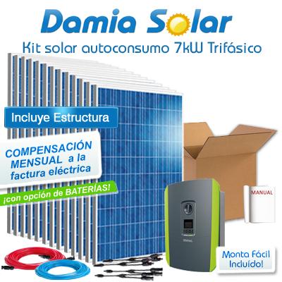 Kit autoconsumo solar 7kW...