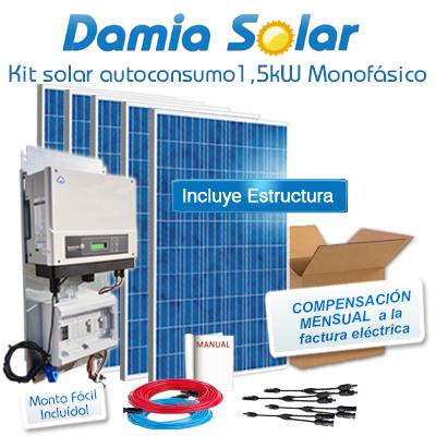 Kit autoconsumo solar 1,5kW...