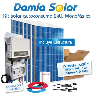 Kit autoconsumo solar 2kW...