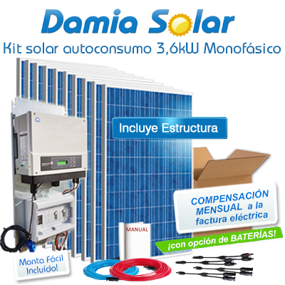 Kit autoconsumo solar 3,6kW...