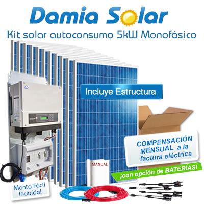 Kit autoconsumo solar 5kW...