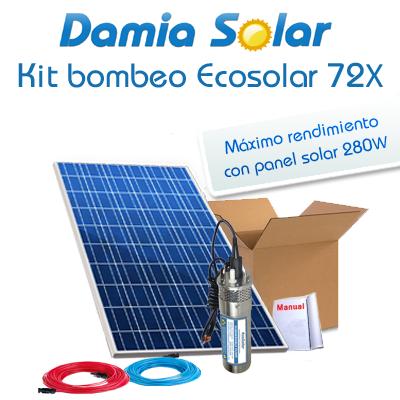 Kit bombeo Ecosolar 72X 24V...